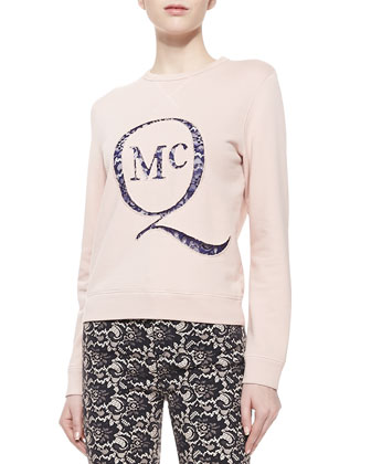 Classic Slim Sweatshirt with Lace Logo