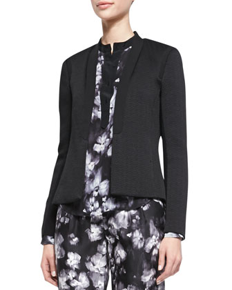 Structured Open-Front Jacket, Black