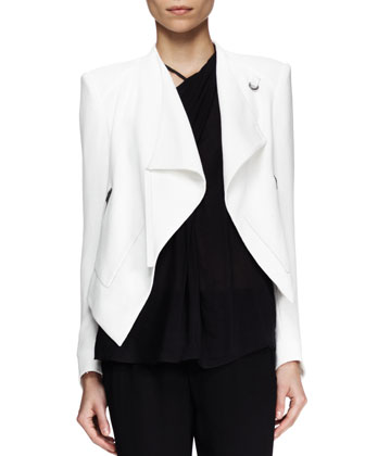 Sugar Cropped Drape Jacket, Lush Twist-Neck Top & Relic Cropped Drawstring Pants