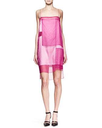 Paneled Organza Runway Dress