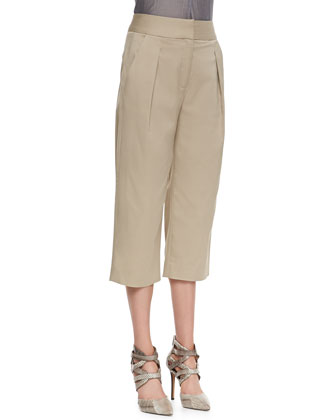 Schoolboy Cropped Pants