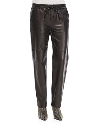 Chapman Leather Drawstring-Waist Trousers