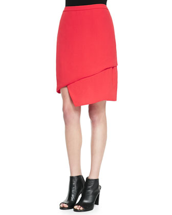 Maryse Asymmetric Tiered Skirt