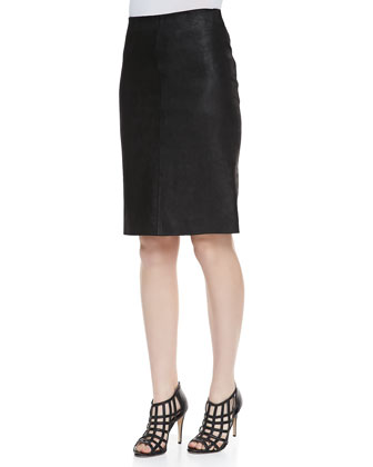Golda 2L Leather Pencil Skirt