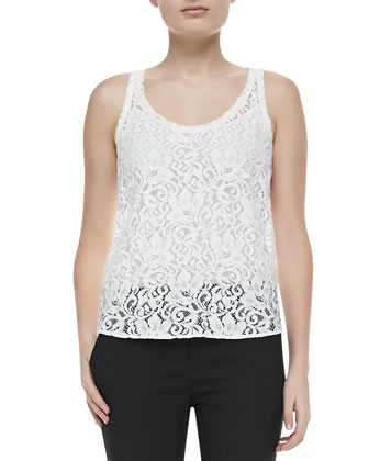 Isaac Lace Sleeveless Tank Top