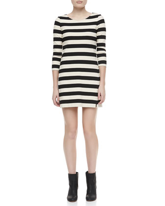 Onitia Three Quarter-Sleeve Ponte Dress