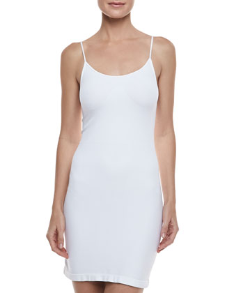 Formfitting Camisole Slip, White
