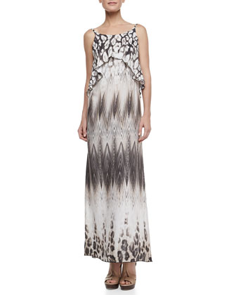 Tribal Overlay Maxi Dress