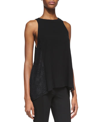 Lindsay Lace-Detail Tank Top