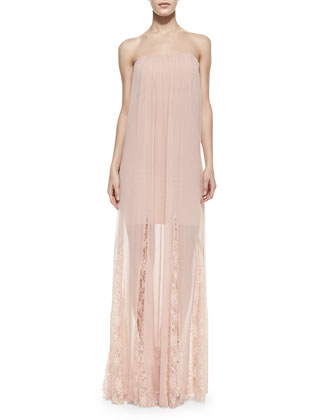 Francesca Strapless Chiffon Maxi Dress