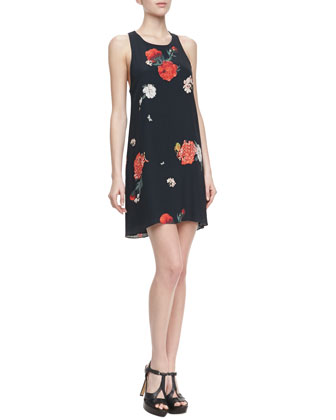 Liz Castaway Floral-Print Tunic Dress