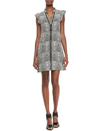 Gamma Printed Button-Front Dress