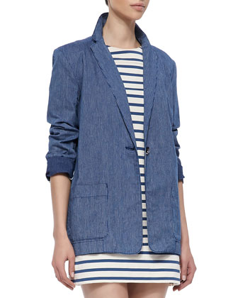 Jamie Pinstripe Jacket & Jacquelyn Striped Shift Dress