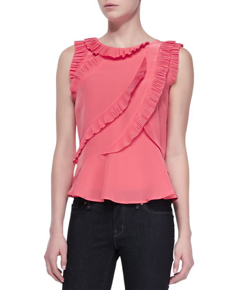 Frances Ruffled Crepe Top