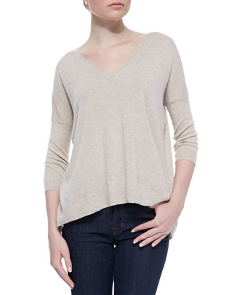 Cashmere Back-Zip Detail Sweater