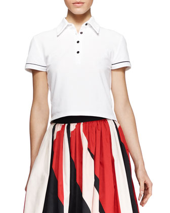 Miller Cropped Polo Shirt