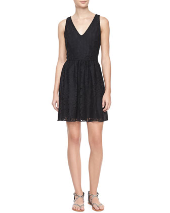 Phelia Sleeveless Lace Dress