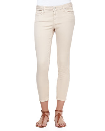 Stretch-Denim Cropped Skinny Jeans