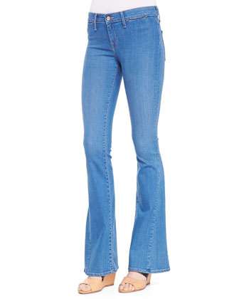Aqueous Mid-Rise Flare Jeans
