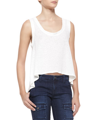 Pine Sleeveless Crop Top