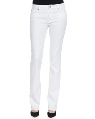 Skinny Bootcut Jeans, Clean White