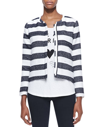 Monterey Boxy Striped Jacket