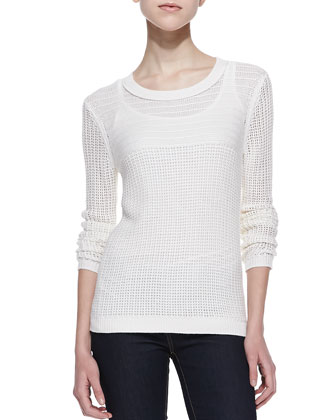 La Jolla Mesh Knit Sweater