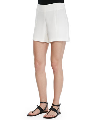 Pascal Darted Single-Button Blazer, Ellie Semisheer Polo Shirt & Florencia High-Waist Shorts