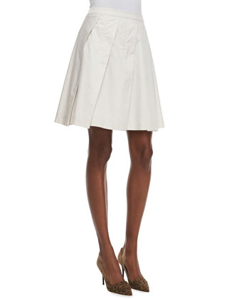 Sarise Pleated A-Line Skirt