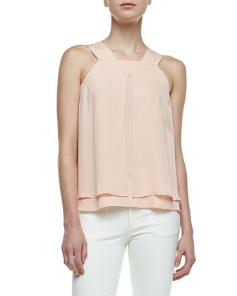 Lylani Double-Georgette Layered Blouse