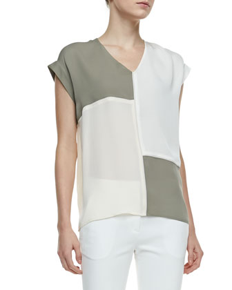 Talda C Colorblock Blouse