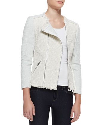 Bicolor Tweed Combo Jacket
