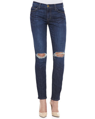 Destroyed Skinny Ankle Jeans, Bedford
