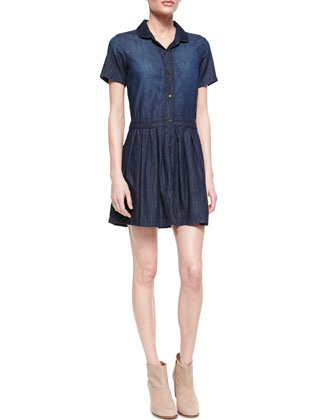 The School Girl Chambray Shirtdress