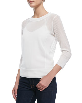 Atwood Lightweight Ribbed Knit Sweater