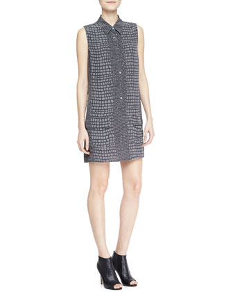 Lucida Printed Pocket Shirtdress