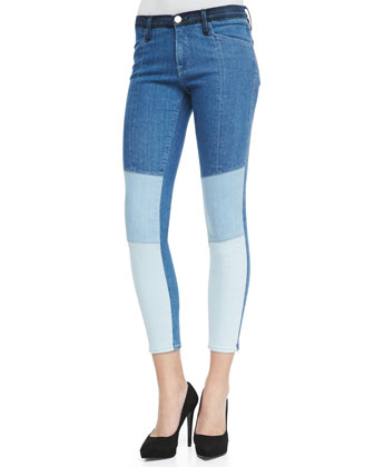 Le Skinny Colorblock Denim Jeans, Hayden
