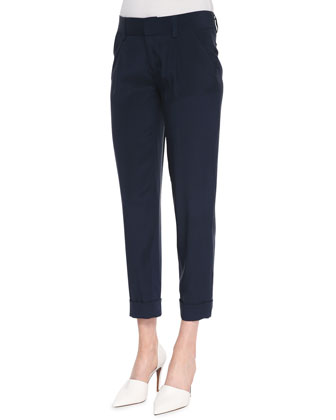 Arthur Cropped Rolled-Cuff Pants