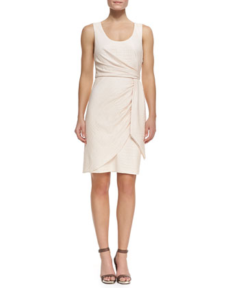 Crocodile Jacquard Wrap Dress