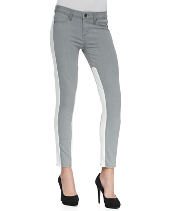 Quinn Two-Tone Stretch Skinny Jeans
