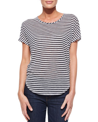 Walker Shore-Stripe Slub Tee
