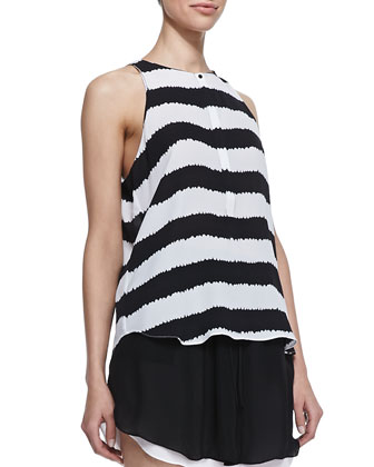 Lennox Silk Striped Tank Top