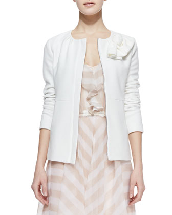 Sweet Lover Textured Crepe Jacket