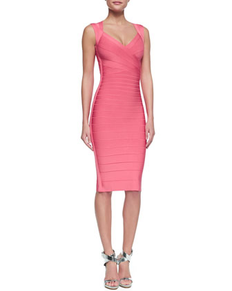 Sarai Sweetheart-Neck Bandage Dress