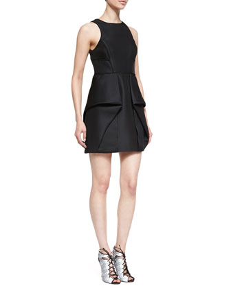 Simona Sleeveless Origami Dress, Black