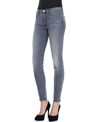 Nico Faded Denim Skinny Jeans, Rakke