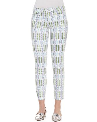 Alexa Printed Cropped Skinny Pants
