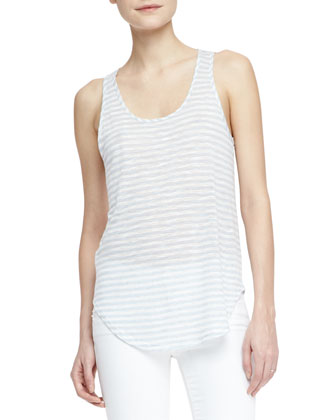 Shore Faded-Stripe Slub Tank
