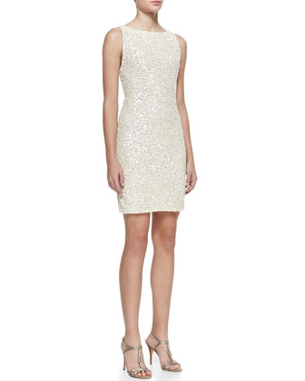 Kimber Sequined Scoop-Back Dress