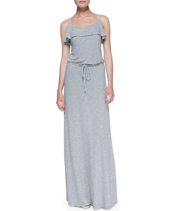 Boxer Striped-Jersey Maxi Dress